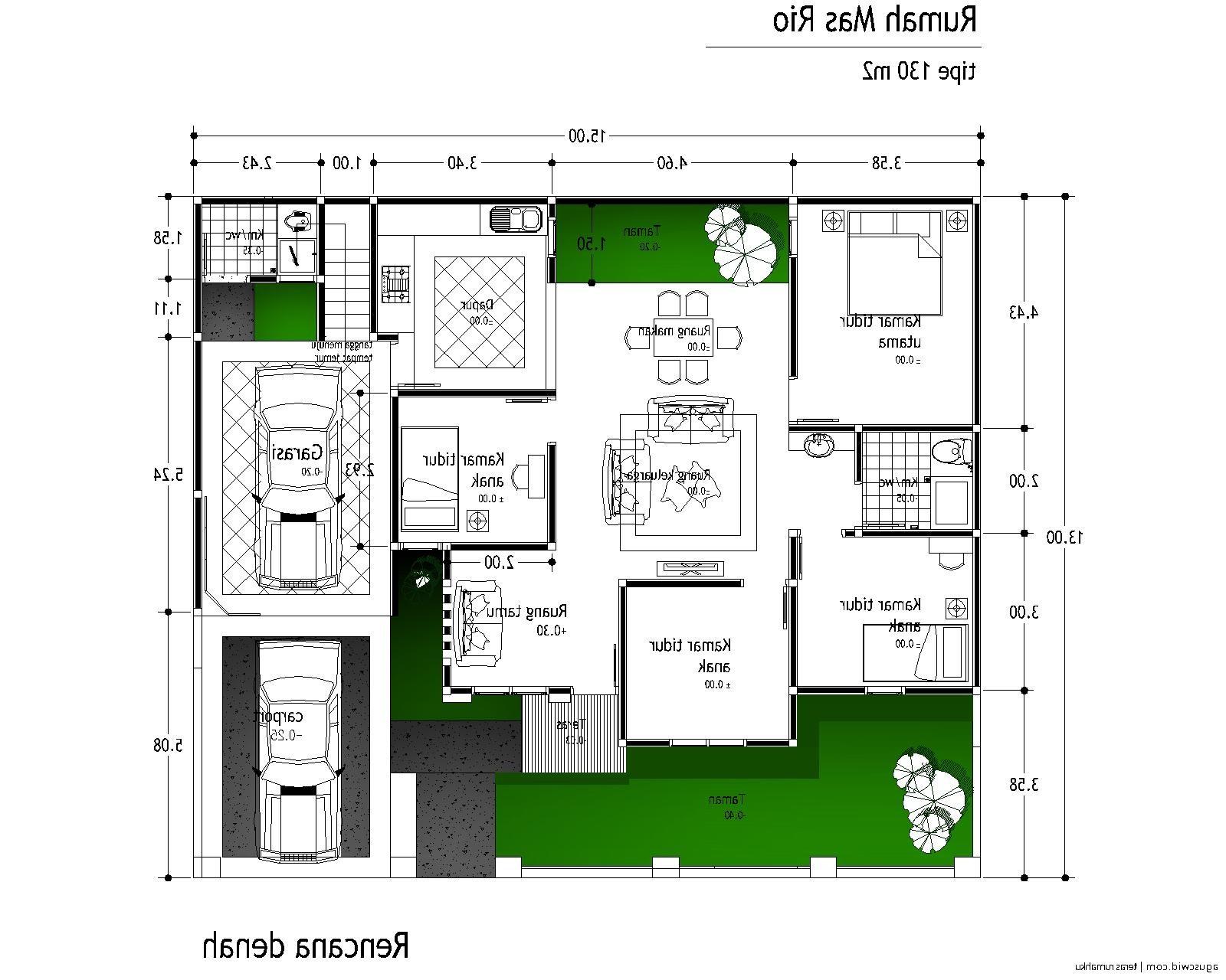 Rumah Minimalis Beserta Denahnya Terbaru Denah Rumah 4 Kamar 1